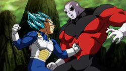 Vegeta is hit jiren