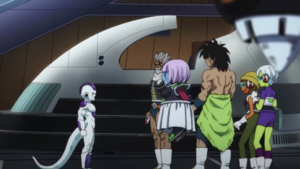 Broly and Paragus meet Frieza