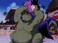 Giran a punto de lanzar a Goku