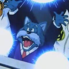 Il Re assieme ai suoi soldati mentre dona la sua energia a Son Goku durante lo scontro finale con Kid Bu.
