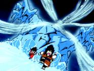 Monstruo de hielo atacando
