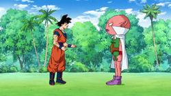 Goku vs. Monaca (satan absorbed)