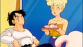 Mrs. Brief serves Yamcha