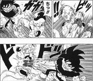 Goku attacks Frieza