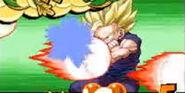 Lluvia de Poder Negativa de Cell perfecto en Harukanaru Densetsu impactando en Gohan