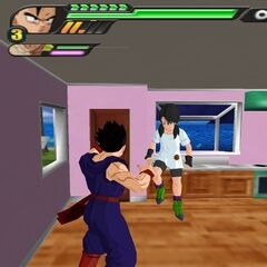 L'interno della Kame House in <i>Dragon Ball Z: Budokai Tenkaichi 3</i>.