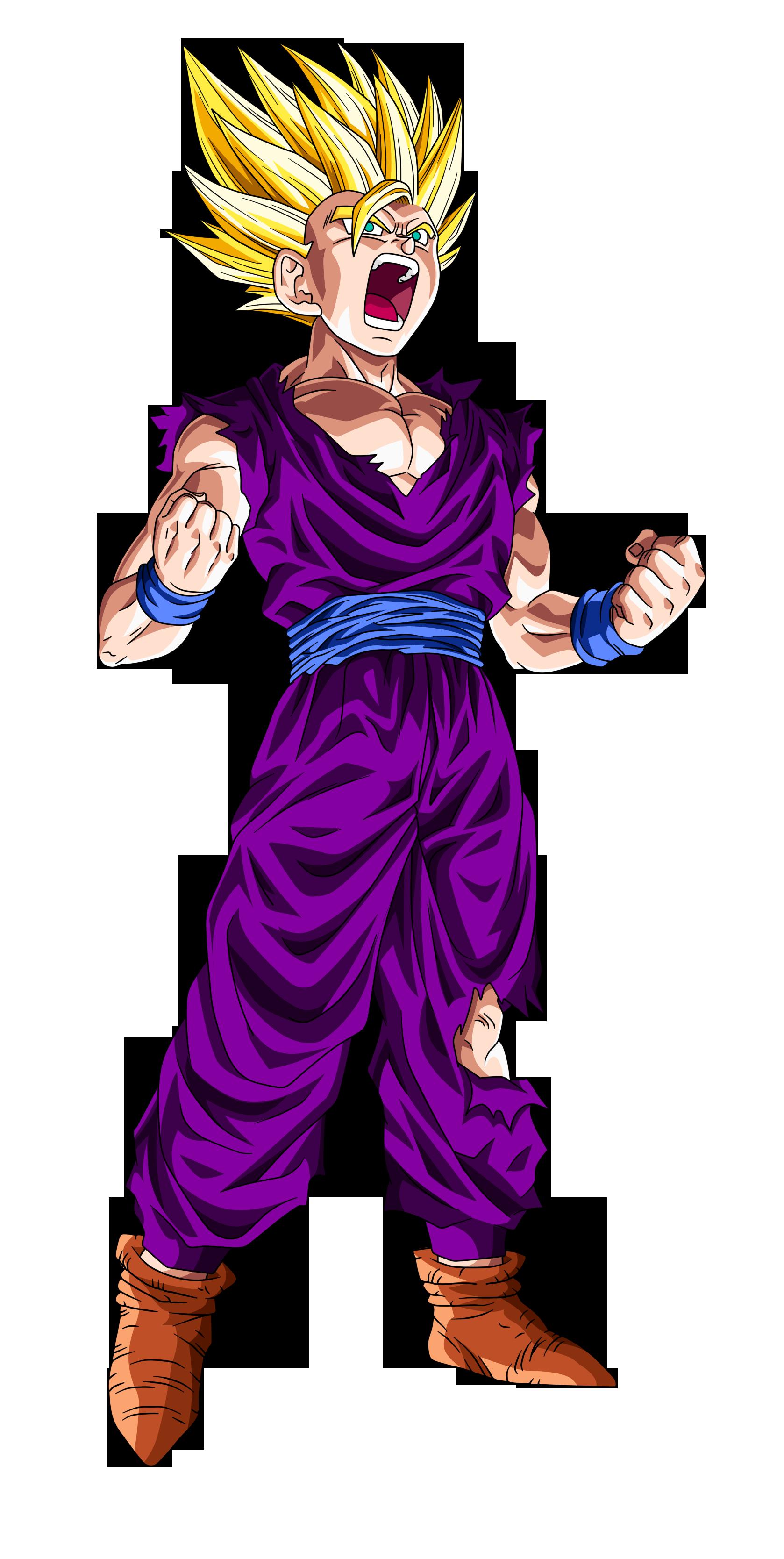 Son gohan super saiyan 2 dragon ball wiki fandom - Son gohan super saiyan 4 ...