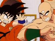Goku bambino vs Tenshinhan
