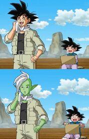 Goku e Zamasu scambio