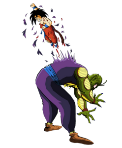 Render Dragon ball Kid Goku kills King Piccolo