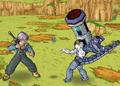Cyborg Frieza grenade toss