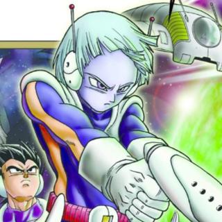 Merus nella cover del volume 10 di <i>Dragon Ball Super</i>.