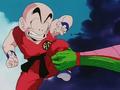 Piccolo grabs Krillin!