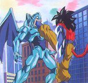 San Shenron affronta Goku Super Saiyan 4