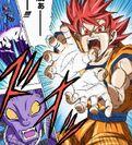 Super Saiyan God Goku Kamehameha