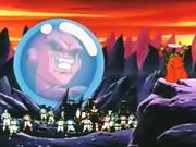 Babidi dando su energia a la Cho-Genkidama de Goku