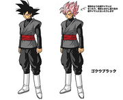 Black goku design toriyama