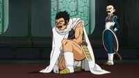 Paragus, apprenant que son fils va être exilé sur la planète Vampa