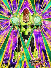 Dokkan Battle New Form and Resolve Android 16 card (DB FighterZ New Model Android 16)