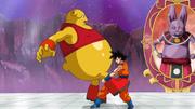 Goku getta fuori dal ring Botamo
