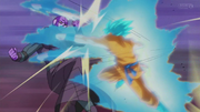 Goku hit fight