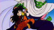 Kid Gohan training with Piccolo