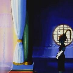 La Principessa del Serpente nei suoi appartamenti.