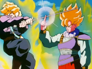 Goku vs Trunks del futuro