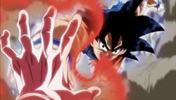 Jiren detiene el golpe de Goku