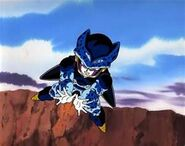 Cell Jr attacking