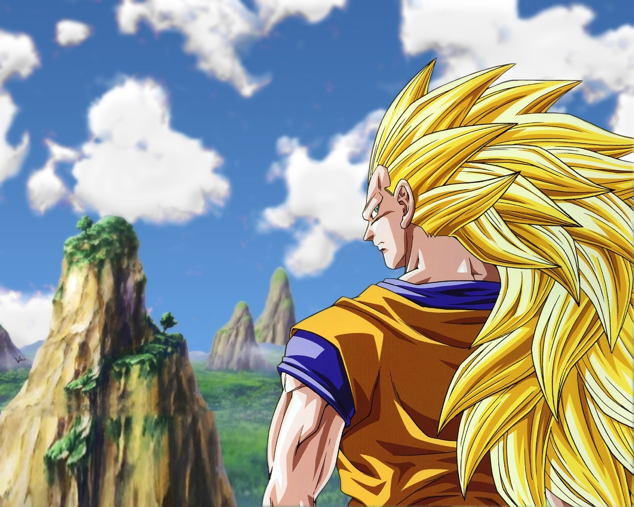 Goku Super Saiyan 3 Wallpaper Dragonball Z Movie Characters 16255428 1280 1024
