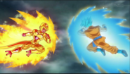 Golden Freezer y Goku super saiyajin azul
