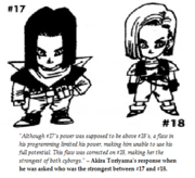 Toriyama's statement about 17 and 18's power