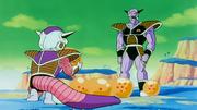 Ginew consegna a Freezer le sfere del drago