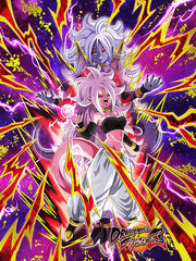 Dokkan Battle Predatory Urge Android 21 (Transformed) card (DB FighterZ True Form Evil Android 21)
