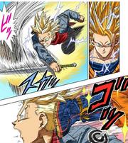 Goku defeats Trunks