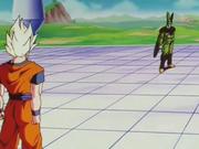 Goku incontra Cell dopo la trasformazione