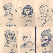 Toyotaro draws the DB Universe cast 4 (24-10-2016)