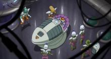 L'intérieur du vaisseau