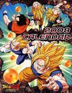 Dbz calendario 2008