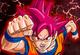 Goku SSJD corriendo en DBH (arte)