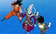 Goku Vegeta entrenan con Whis