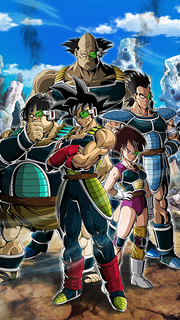 Dokkan Battle Grand Opening Team Bardock card (Special Event Reward Battle-Smart Brawlers! Team Bardock! - Bardock, Tora, Fasha, Shugesh, & Borgos)