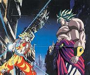 Goku ataca a broly