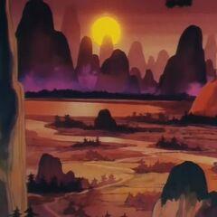 Il Monte Paozu al tramonto