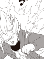 Vegeta Xeno como Supersaiyano 2 manga