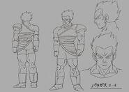 Sketch DBZ11 Paragas (joven)