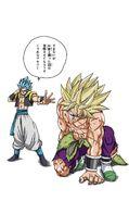 Gogeta contra Broly Manga a color