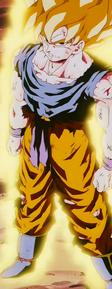 Son Goku transformado en Super Saiyan por primera vez