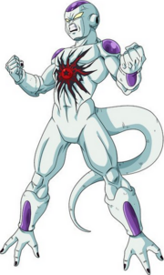 Frieza merged with a Dark Dragon Ball